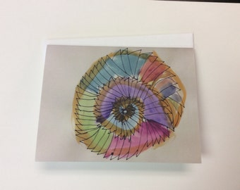 Spiral Greeting Cards, Set of 3 Cards
