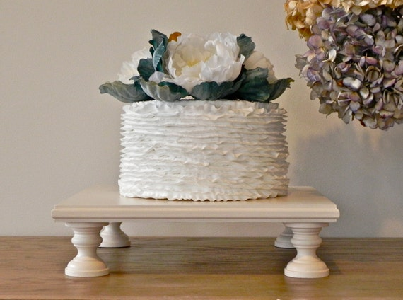 cake stand square antique ivory wedding rustic cupcake stand wedding