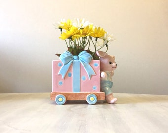 Süße japanische Keramik Kindergarten Pflanzer, Kitsch Japan Pflanzer, Keramik Pflanzgefäß, saftigen Pflanzer, neue Baby-Geschenk, Kinderzimmer Dekoration, Blumentopf