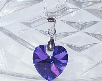 Romantic Gifts,For Her,For Wife,Swarovski,Heart Crystal,Necklace,Birthday Gift,For Girlfriend,Mothers Day Gift,For Woman,Unique,Gift