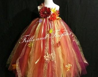 Woodland Fairy Flower Girl Dress/Woodland Fairy Wedding/Woodland Fairy Dress..CUSTOM COLORS AVAILABLE, Size 1t, 2t, 3t, 4t, 5t, 6, 7, 8, 10