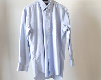 vintage OXFORD light blue long sleeve CHAMBRAY button up shirt