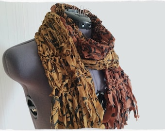 summer scarf   knit scarf   long scarf   upcycled sari ribbon   ombre scarf   skinny scarf   floral scarf   silk scarf   lightweight scarf