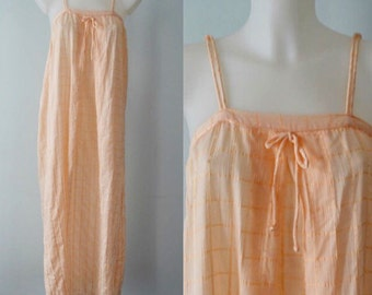 Vintage Nightgown, 1980s Nightgown, Givenchy, Givenchy Nightgown, Peach Nightgown, Summer, Nightgowns, Vintage Nightgowns