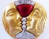 Salvadore Dali brooch pin RARE 1953 design signed