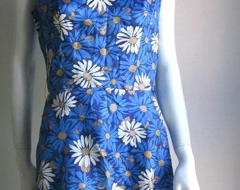 70s flower power dress medium