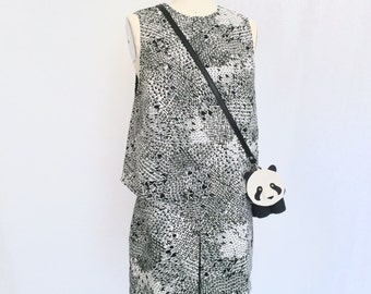 Panda Purse with Shoulder Strap/ Women's Purse/ Handbag by Dandyrions