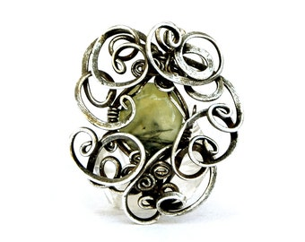 Retro Pendant, Gemstone Pendant, Silver Pendant, Necklace Pendant, Art Nouveau Pendant, Silver Necklace, Pendant Necklace, Stone Pendant