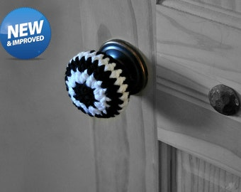 Black and White Door Knob Covers Modern Design Toddler Protection Geometric Home Decor Child Safety