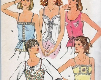 Quick! Butterick 6143 Vintage 70s Sewing Pattern Camisole TOPS