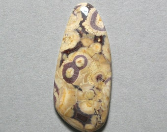 BIRDS EYE RHYOLITE freeform cabochon 22X50mm designer cab