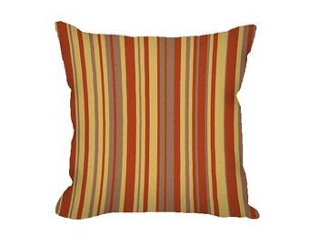 Throw Pillow Cover, fall pillow, striped pillow cover, mustard yellow pillow, rust pillow, gray decorative pillow, fall decor, modern decor