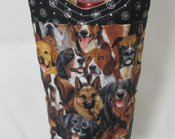 Beautiful Dogs Faces Wine Bag Wine Tote Bag Reusable Wine Carrier Wine Gift