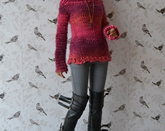 Hand-knitted chunky sweater/jumper for Iplehouse SID
