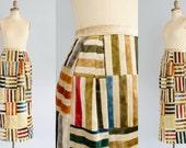 1970s Velvet Skirt - Vintage 70s Maxi Skirt - Tiled Velvet Skirt