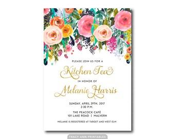 Games For Kitchen Tea Bridal Shower Kitchen Tea Bridal Shower Invitation Rustic Wedding Invitation