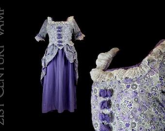 1920s Polonaise. 20s Fancy Dress Costume. Vintage Halloween. Masquerade. Marie Antoinette. Madame Pompadour. Shepherdess. Little Bo Peep.