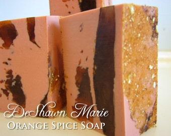 3.5 lb Soap Loaf -SOAP - . Orange Spice Handmade Soap Loaf, Wholesale Soap Loaves, FREE SHIPPING