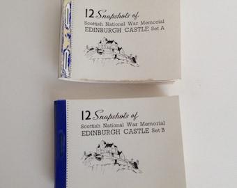 Edinburgh Castle Scotland Photos Vintage Snapshot Souvenir Photograph Booklets Valentine & Sons