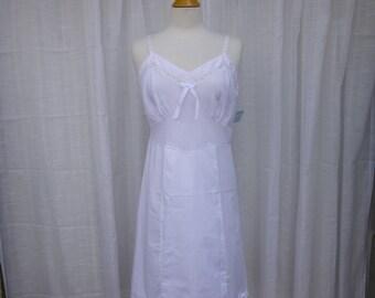 Slip Dress 36/38 M/L White Dove Glam Garb Handmade USA Romantic Dress Victorian Nightgown Steam-punk Vintage Beach Country Wedding Chic Boho