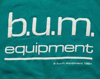 BUM Equipment Sweatshirt, B.U.M. Hip Hop Rap Raglan Shirt, Vintage 90s