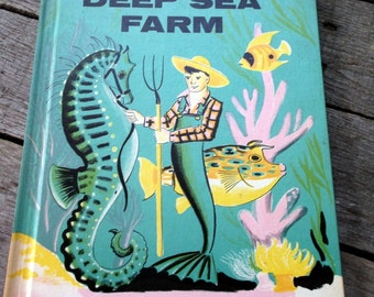 Awesome Vintage Book Deep Sea Farm by Dahlov Ipcar 1961 Great Condition