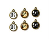 6pcs of Handcrafted Glass Charms, Harry Potter Platform 9 3/4, G-025