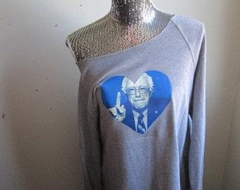 Bernie Sanders Over Sized Off The Shoulder Sweatshirt