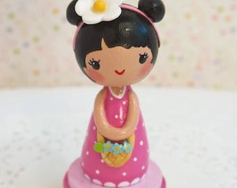 Finger Puppets, Cake Topper Birthday, Cake Topper One, Happy Birthday Cake Topper, Little Girl Gift, First Birthday, 2nd Birthday, Girl Gift