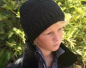 Slouchy Hat Pattern, Crochet Pattern, Men's Slouchy Hat Pattern, Boy's Slouchy Hat Pattern, Winter Hat Crochet Pattern, Winter Hat