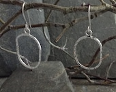 Oval Passage earrings in sterling silver