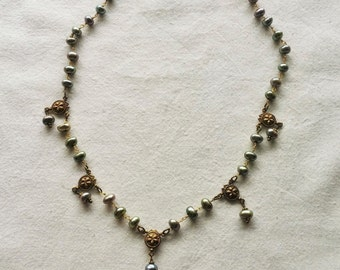 Pearl Journey Spinner Necklace