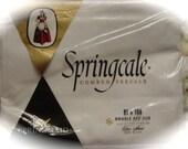 Vintage NOS Springmaid Double Flat Sheet Springcale Combed Percale Soft White 100% Cotton Retro Bedding Textiles REDUCED