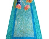 Custom listing - Table Runner - Caribbean Blue Marble