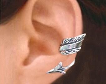 Arrow ear cuff Sterling Silver earrings Arrow jewelry Non pierced clip, Arrow earrings Unique Archry jewelry earcuff for men & women C-188