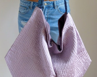 modern minimal shoulder purse , color block bag large hobo bag slouchy handbag,  lavader, purple   top selling items