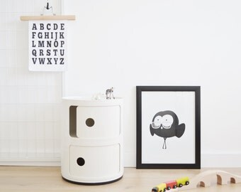 Nursery Decor / Monster Print / Minimalist Kids Room / Kids Decor / Toddler's Room / Children Poster / Baby Shower Gift / Monochrome