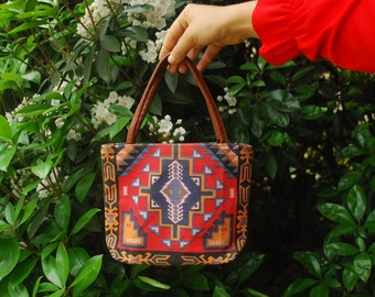 Tribal Print Purse Mini Bag Southwestern Canvas Tote