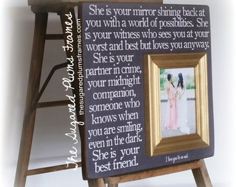 Bridesmaid Gift, Maid of Honor Gift, Personalized Bridesmaid, Personalized Maid of Honor Gift, Sister Gift, Best Friend Gift 16x16