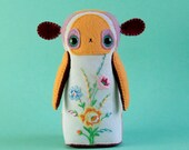 RESERVED for Ruth - DO NOT purchase - Dila Dewdrop - Art Doll - ooak handmade hand sewn soft sculpture - mouse woodland animal creature