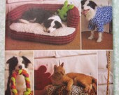 Pet Accessories Package UNCUT Butterick Pattern 4048 Mouse Toy, Bunny Toy, Cat Braid, Beds