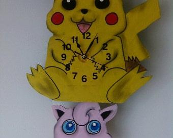 Poke-Monster Children's Pendulum Wall Clock