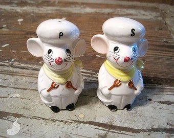 George Good Corp Chef Mice Salt and Pepper Shakers