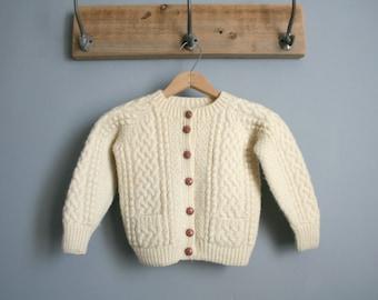 Child Handmade Fisherman Cardigan Sweater