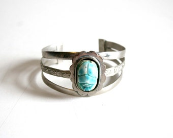 Egyptian Revival Beetle Bracelet