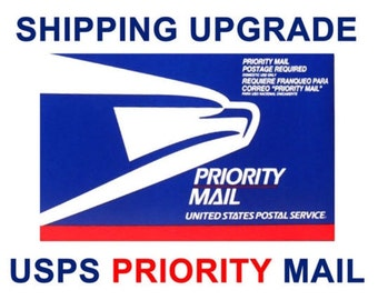 Upgrade to USPS Priority Mail - US Addresses ONLY