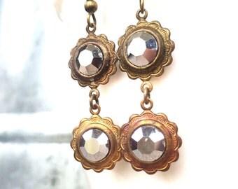 Boho Wedding Jewelry - Gypsy Earrings - Bohemian Festival Jewelry - Every Day Earrings - Everyday Earrings - Double Stone Earrings