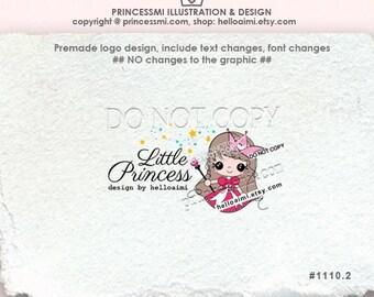 1110-2 girl logo, princess logo design, custom logo, girl boutique logo, little princess logo,  kids business logo by princessmi