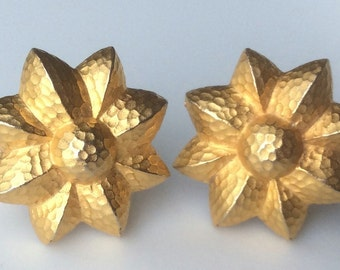 Givenchy Hammered Gold Earrings