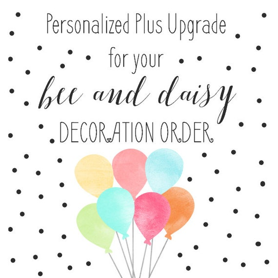 Personalized Plus Decor Pack Upgrade for any BeeAndDaisy Printable Decorations includes Custom Photo Thank You Card